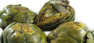 Fiber Rich Artichokes Sauteed in Low Fat Garlic Butter , 2 Smart Points