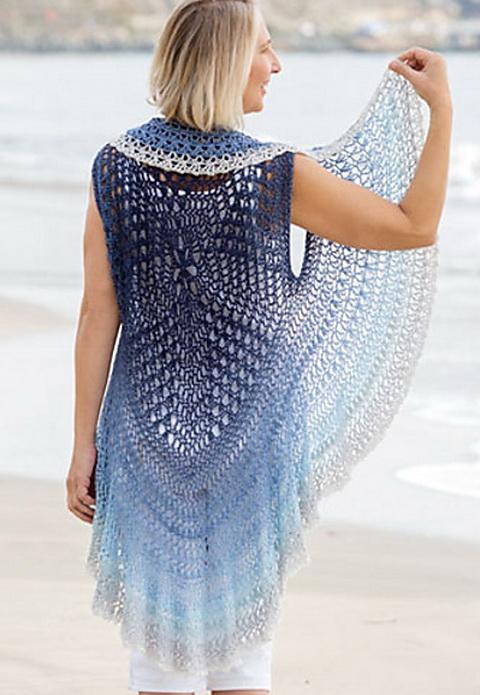 Circular Vest Crochet Pattern, back