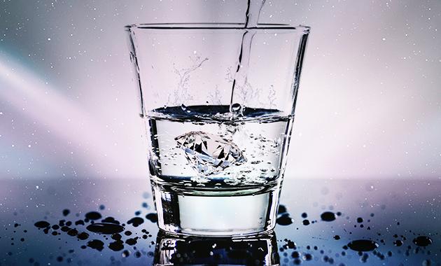 Gambar tindakan higiene (Minum air yang telah direbus)