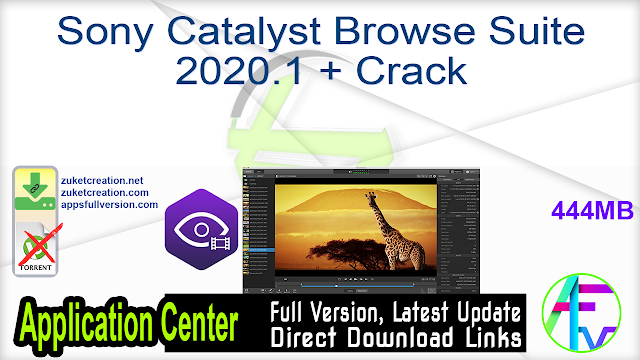 Sony Catalyst Browse Suite 2020.1 + Crack