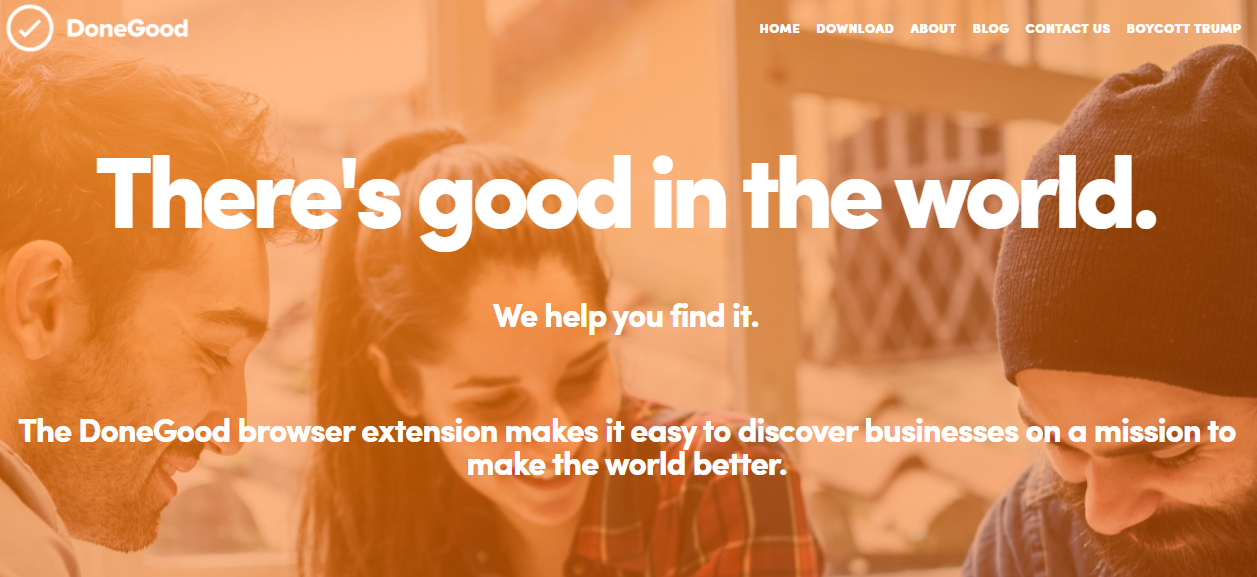 DoneGood ethical fashion and shopping browser extension and app