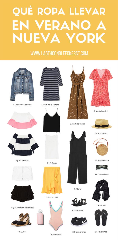 El tiempo en Nueva York que ropa llevar en verano