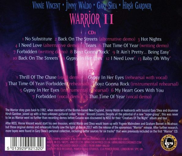 WARRIOR (feat Vinnie Vincent) - Warrior II [expanded edition] (2019) back