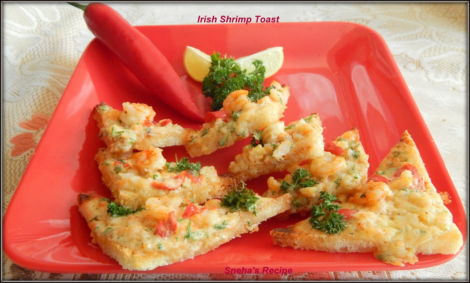 Irish shrimp toast fishfridayfoodie sneha 39 s recipe for Irish fish recipes
