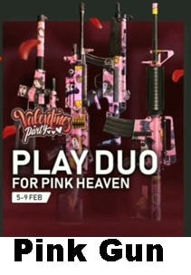 How to win Pink Guns, Free Fire Valentine's Party event