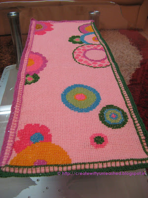 Cross stitch table runner