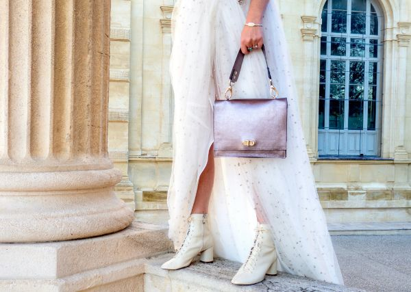 Sac Midnight Sky Silver signé Margaux-Lou Maroquinerie