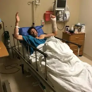 Travis Pastrana In Hospital After Surgery Webp