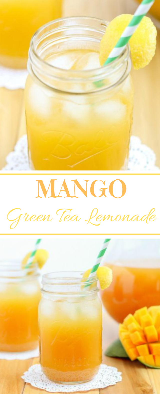 Mango Green Tea Lemonade #lemonade #summer