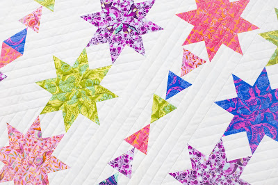 Close up of Starfall by Canuck Quilter Designs