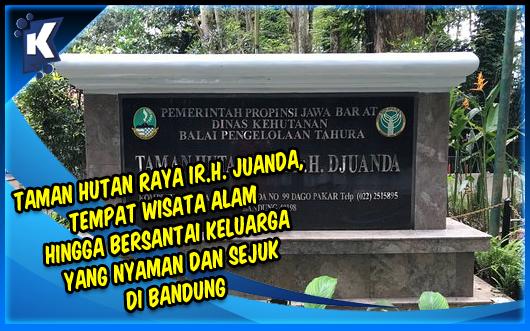 Taman Hutan Raya Ir.H. Juanda, Tempat Wisata Alam Hingga Bersantai Keluarga Yang Nyaman dan Sejuk di Bandung