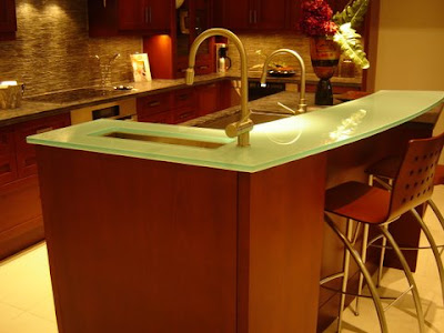 PAINTED GLASS COUNTERTOP