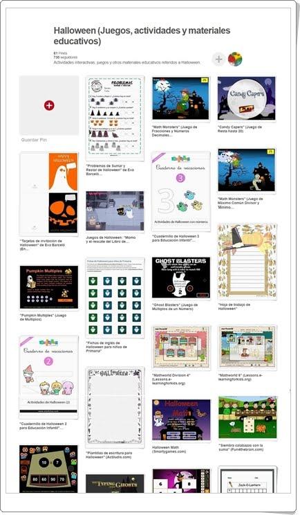 """""""Conjunto de juegos, actividades y materiales educativos sobre HALLOWEEN"""""""