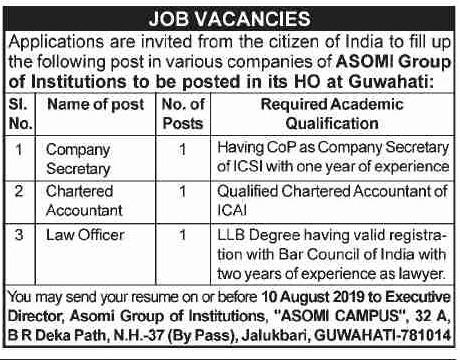 Asomi Group Recruitment 2019