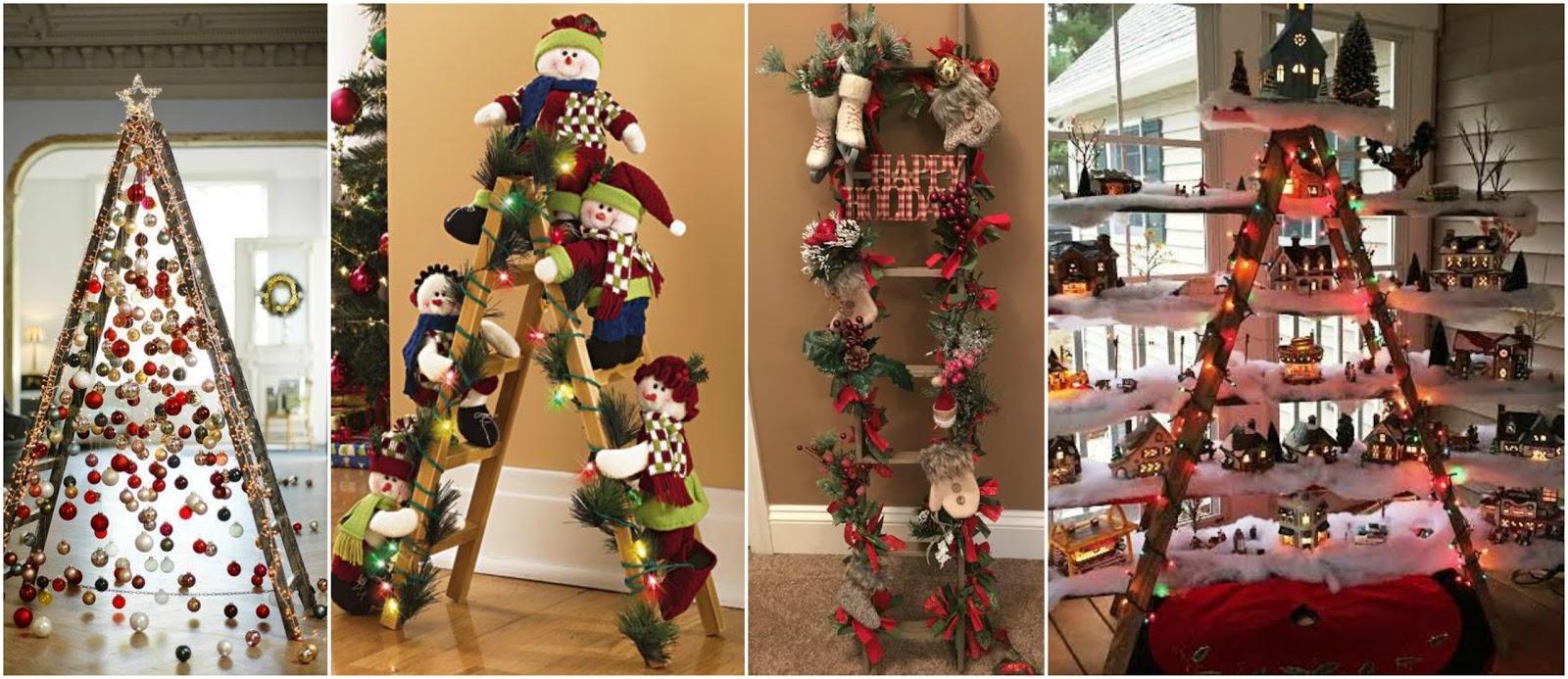 13 ideas de c mo decorar con escaleras en esta navidad - Escaleras decoradas en navidad ...
