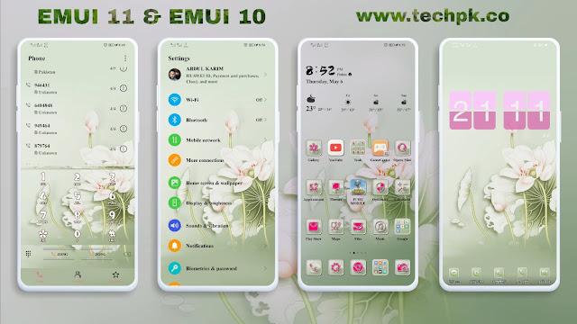 [Emui Themes] Lotus rhyme Emui Theme For Emui 11 & Emui 10