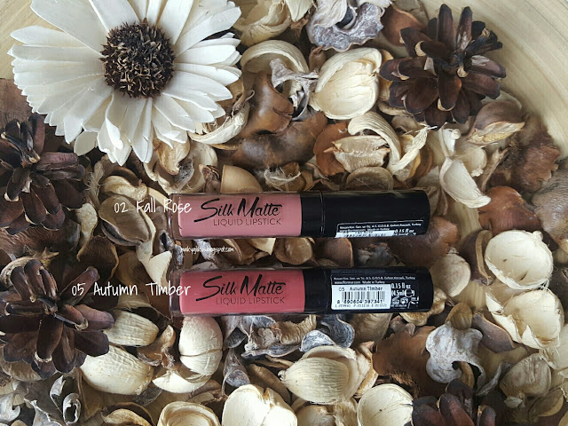 Flormar Silk Matte Liquid Lipstick 02 Fall Rose  05 Autumn Timber