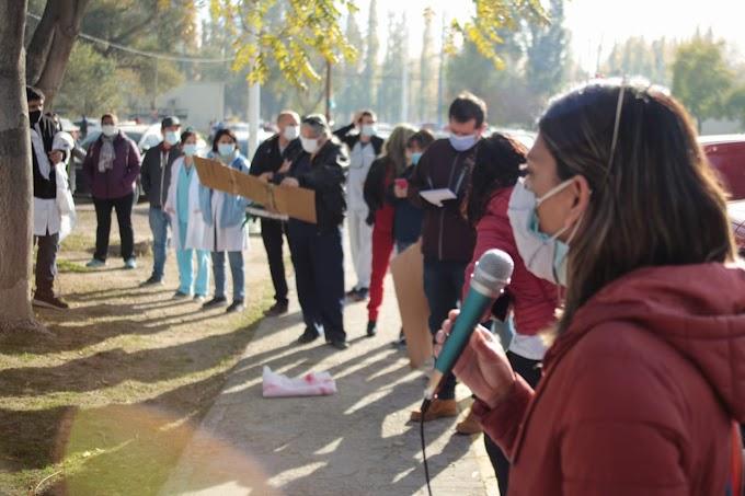 Spósito acompañó a ASSPUR en su jornada de protesta