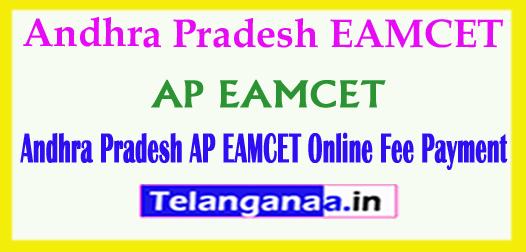 Andhra Pradesh AP EAMCET APEAMCET 2018 Online Fee Payment