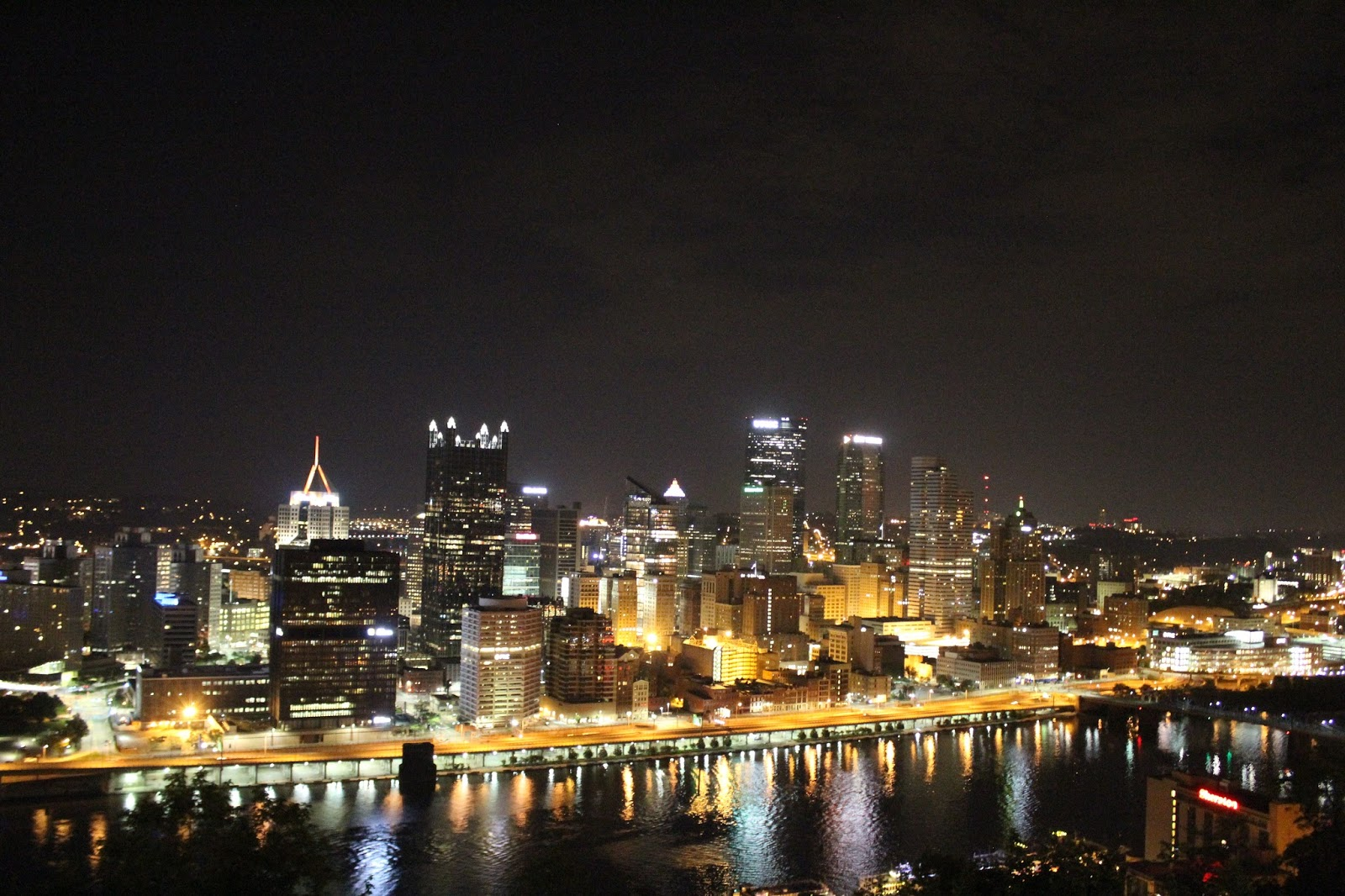 Night view of Pittsburgh Downtown