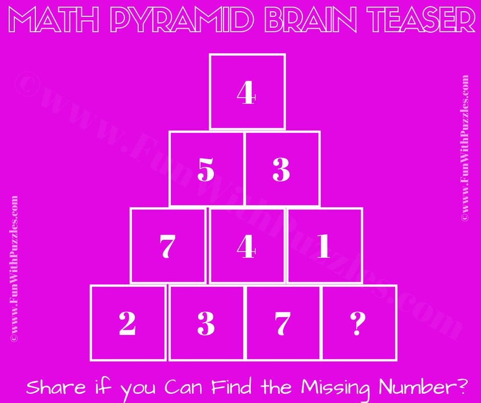 Math Puzzle Brain Teaser for Adults with Answer-Fun With
