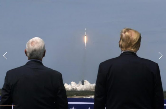 Trump eyes Mars as US launches first human spaceflight in 9 years