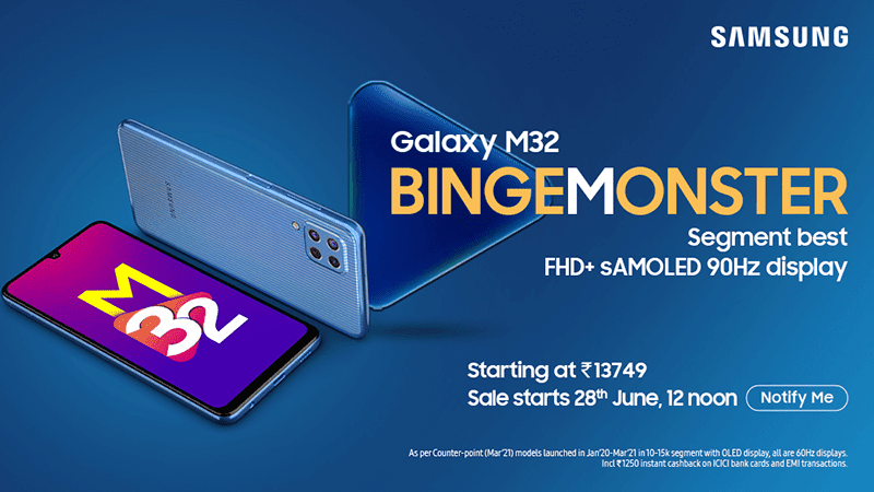 Samsung Galaxy M32 with Helio G80 and 90Hz AMOLED screen announced