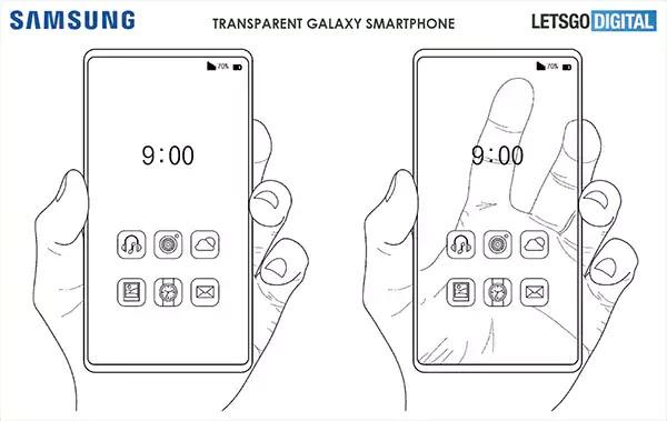 سامسونج تطور هاتف شفاف