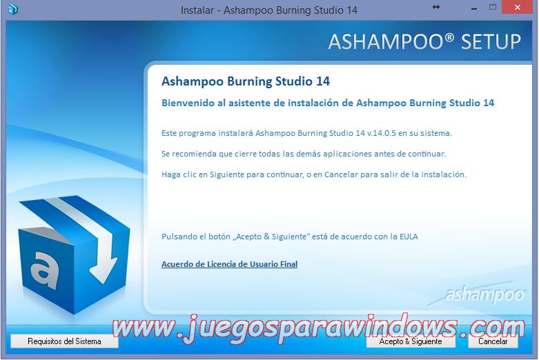 Ashampoo Burning Studio v14.0.5.10 Full PC ESPAÑOL 1
