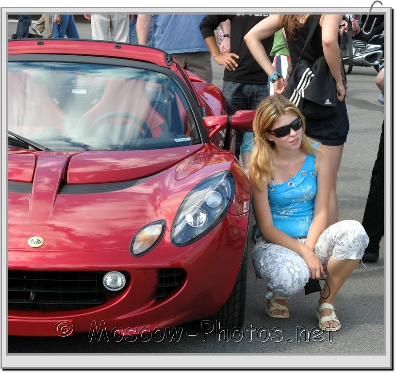 Girl And Car at Bavaria Moscow City Racing 2008