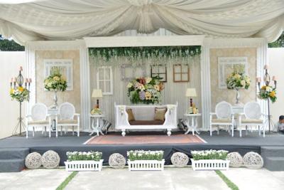 dekorasi pernikahan minimalis modern terbaru