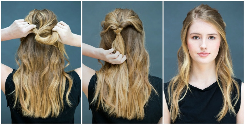 8 easy hairstyles for 10 seconds