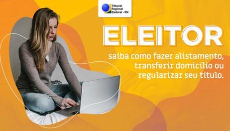 Eleitor pode solicitar transferência eleitoral e serviços pela internet até o dia 06 de maio