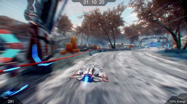 Racing Glider the game is an interesting race with elements of fiction. In the distant future