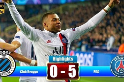 Cuplikan Gol Club Brugge VS Paris Saint Germain 0-5