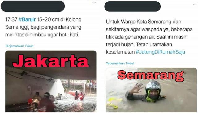 Genangan 15-20 cm di Jakarta Disebut Banjir, di Semarang Sedalam 1,5 meter Dibilang Genangan
