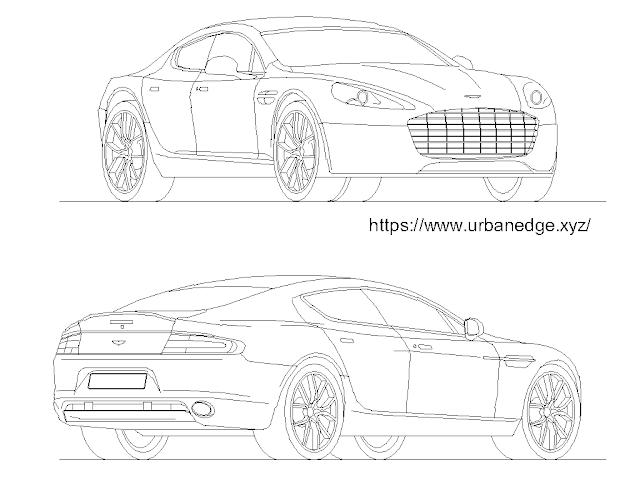 Car cad block free download - Aston Martin Rapide