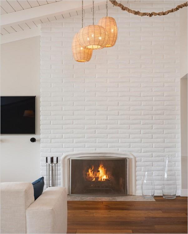 Painted Brick Fireplace Ideas Home Interior Exterior Decor Design Ideas