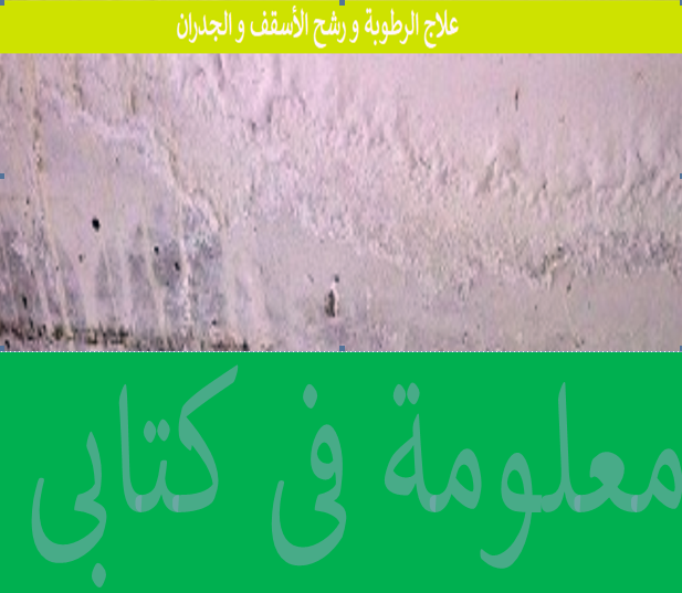 Treatment of moisture and leached ceilings and walls