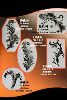 Contoh Katalog Ornamen Besi Tempa atau Ornamen Alferon untuk Pagar Klasik