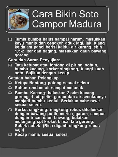 Resep Masakan Soto Madura Yang Unik dan Maknyos