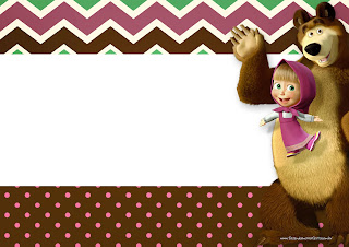 Masha And The Bear Party Free Printable Invitations