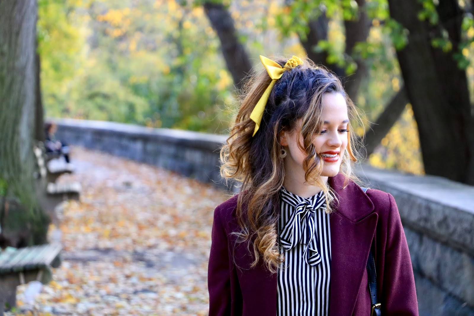 Nyc fashion blogger Kathleen Harper's hair bow outfit ideas