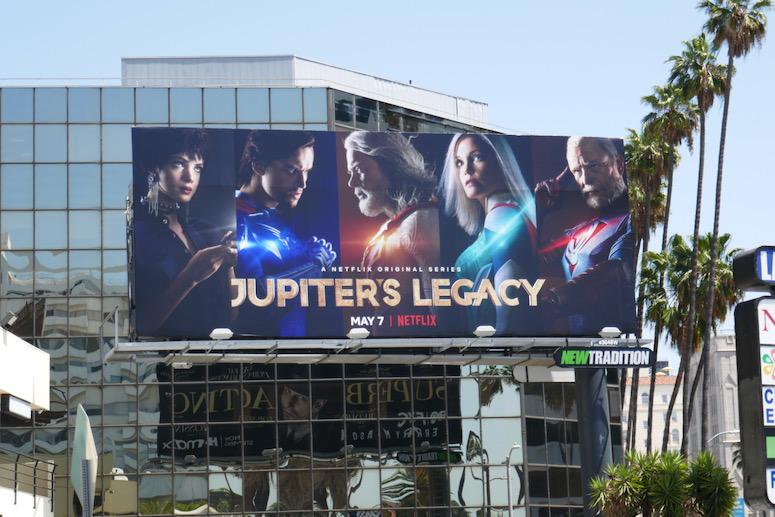 Jupiters Legacy series launch billboard