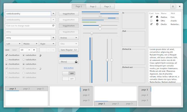 Opções de ambientes GTK