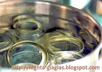 Αποστείρωση βάζων και μπουκαλιών - by https://syntages-faghtwn.blogspot.gr