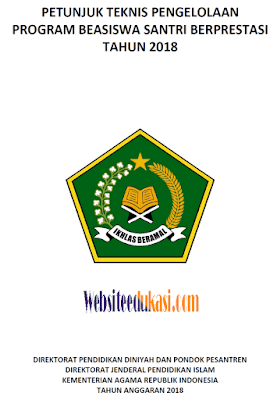Juknis Pendaftaran Program Beasiswa Santri Berprestasi Tahun 2018