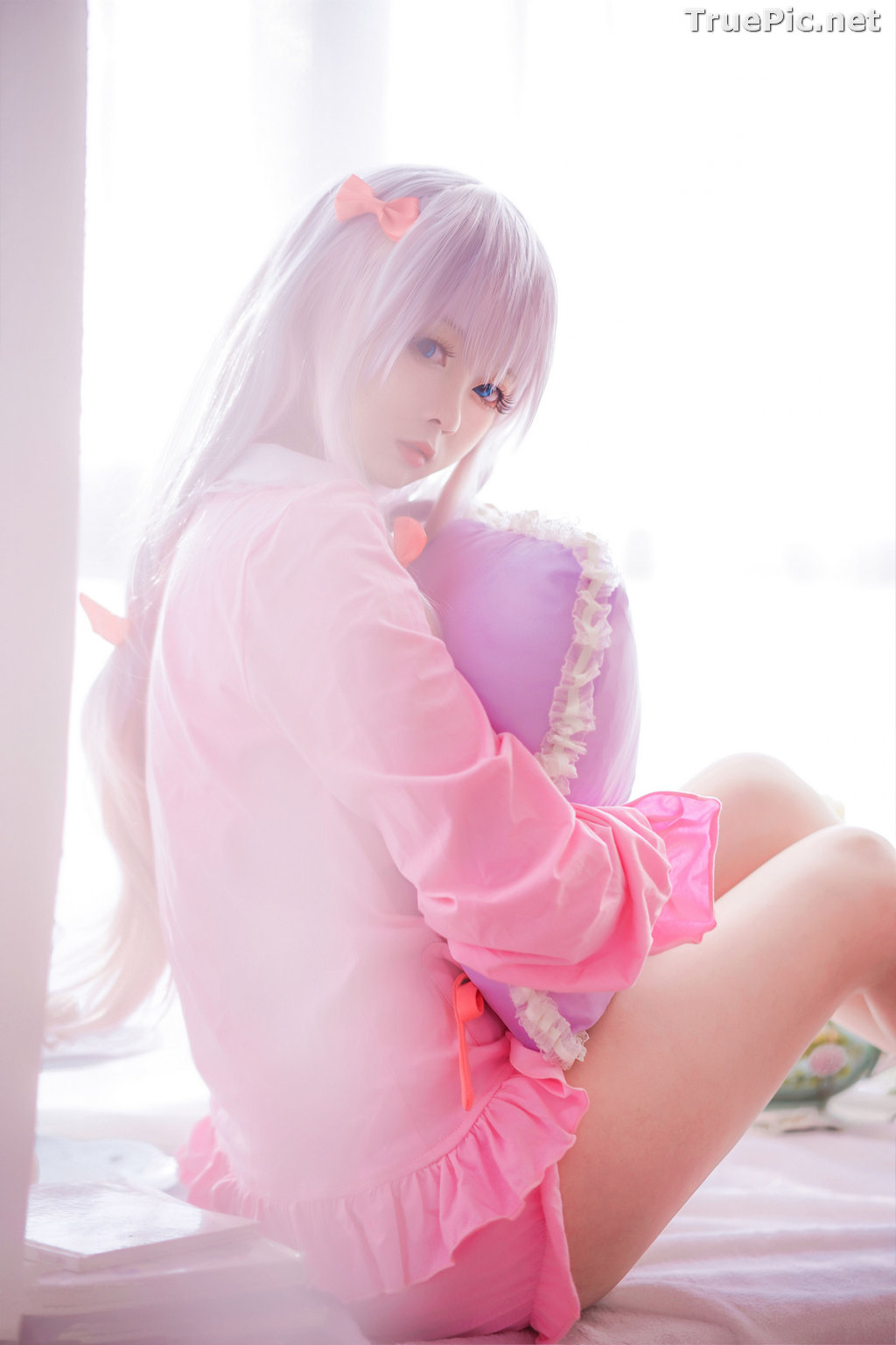 Image [MTCos] 喵糖映画 Vol.048 - Chinese Cute Model - Lovely Pink - TruePic.net - Picture-9