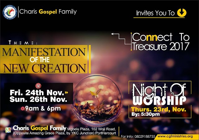 "EVENTS: Charis Gospel Family Presents ""Connect To Treasure 2017"" 