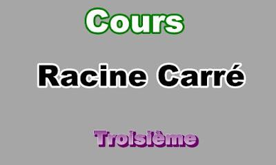 Cours Sur Racine Carré 3eme en PDF